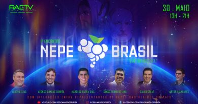 1º ENCONTRO NEPE – BRASIL –30 DE MAIO DE 2020 – 13h AS 21h (Pela Rede Amigo Espírita)