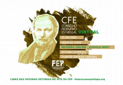 Reunião do Conselho Federativo Estadual – CFE (VIRTUAL) – Domingo, 27 de setembro