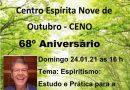 68º Aniversário do CENO – Centro Espírita Nove de Outubro (Moreno-PE) – Geraldo Campetti
