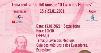 """1ª Semana Regional Nordeste e a 11ª Jornada FEEAL de """"O Livro dos Médiuns""""."""