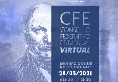 2ª Reunião do Conselho Federativo Estadual – CFE (VIRTUAL) em 2021 – Domingo, 28 de março de 2021