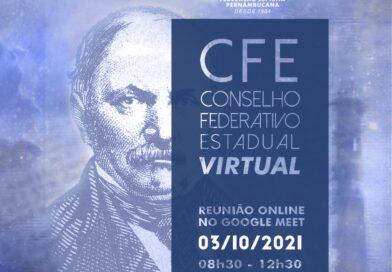5ª Reunião do Conselho Federativo Estadual – CFE (VIRTUAL) em 2021 – Domingo, 03 de outubro de 2021