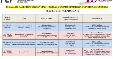 Agenda de palestras FEP com público presencial – Outubro/2021